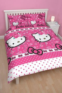 Hello Kitty Sommerwind Double Doona Cover Set. Available at Kids Mega Mart Shop Australia www.kidsmegamart.com.au