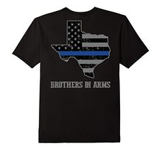 Texas Police Thin Blue Line Brothers In Arms LEO Support Tee - Male Small - Black Shoppzee Police Thin Blue Tee Support Tee http://www.amazon.com/dp/B0181YDSYG/ref=cm_sw_r_pi_dp_E-pSwb0P2SQSB