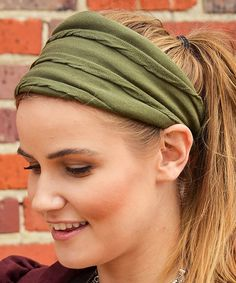 Another great find on #zulily! Green Olivia Beanie Head Wrap by FPCO Limited #zulilyfinds