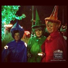 Sleeping Beauty's Witches at Witches Night Out at Gardner Village