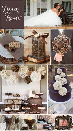Pinecone and Brown Wedding.