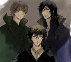 Marauders - harry-potter-anime Photo. Seriously....we need a harry potter anime....like they could go line by line in the books and it would be okay by me!
