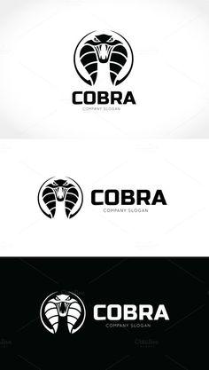 Cobra Snake Logo by Super Pig Shop on @creativemarket