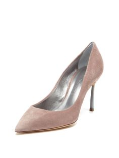 Metallic Pointed-Toe Pump by Casadei at Gilt