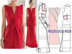 Mod@ en Line@ Fashion Sewing, Diy Fashion, Ideias Fashion, Fashion Dresses, Diy Clothing, Sewing Clothes, Dress Sewing Patterns, Clothing Patterns, Costura Fashion