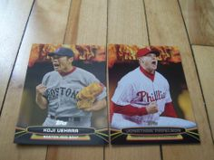 Koji Uehara Jonathan Papelbon 2014 Topps Opening Day Fired Up Insert 2 Card Lot | eBay