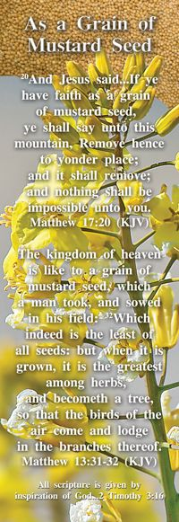 As a Grain of Mustard Seed - Side 1 from BibleBookmark.com