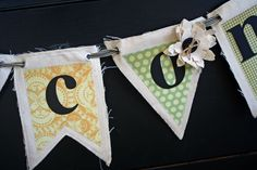 Super cute canvas banner for a party or something.  Would b great for birthdays or holidays