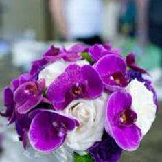not a big fan of using roses with orchids...but maybe use purple roses?