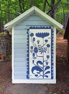 Artist Elsa Mora's shed. via the artist's blog