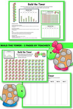 Count and make game for Kindergarten.