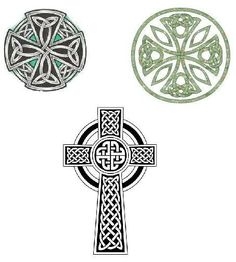 celtic cross tattoos. I like top right. But want it to be longer without the circle around it