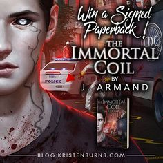 Win a signed paperback of urban fantasy The Immortal Coil by J. Armand! #bookgiveaway