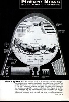 Manned Spacecraft Concept, Popular Science, August, 1958.