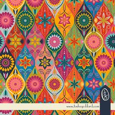 Boho Chick Ogee Pattern on Behance  © Tasha Goddard 2014