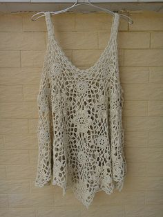 "Crochet Tops Womens Tunics Plus Size Loose Blouse Ideal for layering, go perfectly with beach dree, swimwear, crochet bikini set So bohemian chic! elegant sexy piece, made with acrylic cotton yarn measured 28"" in length and 47"" bust cirmcuference"