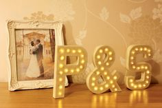 3x 20cm (8inch) 3D Letter Lights with warm white LEDs and choice of power supply. By The Letter Lounge