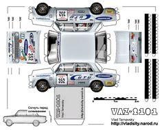 Бумажные модели автомобилей ваз :: Аппликации