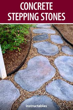 Stepping Stone Molds, Concrete Stepping Stones, Concrete Path, Concrete Crafts, Lawn And Garden, Garden Paths, Diy Interior Furniture, Yard Stones, Cool Diy Projects