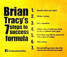 7 steps to success / goal achievement / Brian Tracy  **These Brian Tracy programs will change your life.