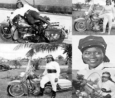 """Bessie Stringfield, called """"The Motorcycle Queen of Miami"""", was a Black woman credited with breaking down barriers for both women and African American motorcyclists. She was the first Black woman to ride across the United States and during World War II she served as a motorcycle despatch rider for the United States military. The award given by the A.M.A. for 'Superior Achievement by a Female Motorcyclist' is named in her honour. In 2002 she was inducted into the Motorcycle Hall of Fame."""