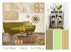 """.Eco-Home."" by hazelerin1987 ❤ liked on Polyvore featuring interior, interiors, interior design, home, home decor, interior decorating, Dot & Bo, Zuo, Primitives By Kathy and Arteriors"