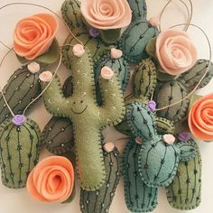 Greenery is @Pantone's Color of the Year for 2017, and we're all about it. Can't stop staring at these adorable felt cactus ornaments from Etsy seller @lunabeehive.  #pantonecoloroftheyear