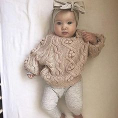 This knit pom sweater is just too cute knit sweater winter baby clothes fashionable baby clothes neutral colors baby Baby Girl Fall Outfits, Neutral Baby Clothes, Winter Baby Clothes, Baby Girl Party Dresses, Baby Girl Winter, Newborn Girl Outfits, Girls Summer Outfits, Cute Baby Clothes, Baby Girl Newborn