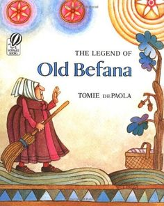 The Legend of Old Befana -- In Italy, Old Befana visits children while they sleep and leaves them gifts at Christmas. This folk tale tells the origin of Old Befana, who is too busy with her housework to follow the Magi to find baby Jesus. When she has a change of heart, she tries to search for the child herself to give him gifts...but there are so many other children she meets on the way...