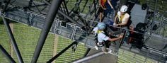 Be a dare devil and try your hand at abseiling inside The Olympic Stadium Olympia, Daredevil, Sport, Munich, Dares, Conference, Basketball Court, Europe, History