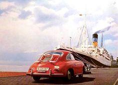 Red Porsche 356 #porsche
