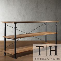 TRIBECCA HOME Myra Vintage Industrial Modern Rustic TV Stand//could use as book storage or buffet in living room