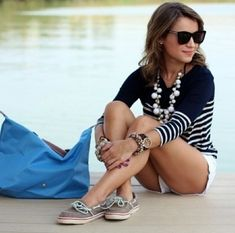 Such a cute preppy summer outfit!!