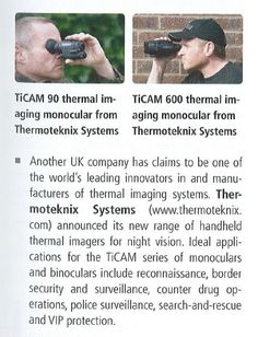 Thermoteknix' TiCAM Range in the Counter Terror Expo 2015 Review in GIT Security magazine, June 2015