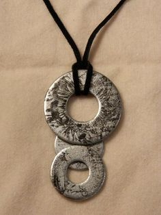 Stamped Washer Necklace by dovekiie on Etsy