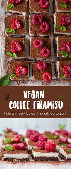 Vegan Coffee Tiramisu {gluten-free / paleo / no refined sugar }