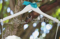 Hanger for wedding dress. #DestinationWedding