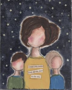 Momma And Her Boys Painting by Cassandra Cushman