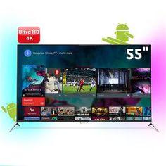 "[BahiaMob] Smart TV 3D 55"" Ultra HD 4K Philips 55PUG7100/78, Android, Ambilight - R$3,700"