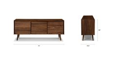 "Seno Walnut 71"" Sideboard - Cabinets - Article | Modern, Mid-Century and Scandinavian Furniture"