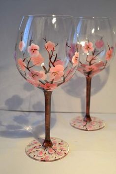 find this pin and more on hand painted glass decoupage wine glass painting - Wine Glass Design Ideas