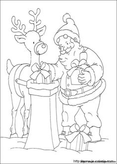 Free Printable Christmas Coloring Pages Christmas Present Coloring Pages, Christmas Coloring Sheets, Valentines Day Coloring Page, Deer Coloring Pages, Free Printable Coloring Pages, Coloring Books, Christmas Embroidery Patterns, Christmas Applique, Illustration Noel