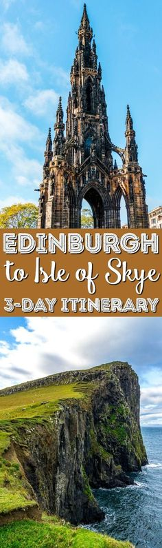 If you're visiting Scotland, make sure you make the trip from Edinburgh to the Isle of Skye! Here's a 3-day itinerary to help guide you along your journey! via @sugarandsoulco