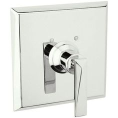 Rohl A1000LV Vincent Pressure Balanced Shower Valve Trim Only with Metal Lever h Polished Nickel Faucet Valve Trim Only Single Handle