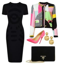 """Colorful Blazer From-Day-to-Night Look"" by arta13 on Polyvore featuring Moschino, McQ by Alexander McQueen, Christian Louboutin, Marco Bicego and Prada"