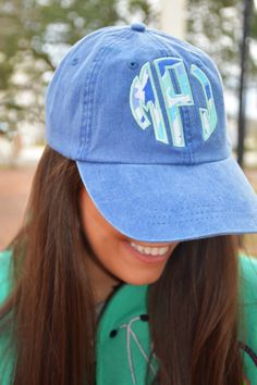 7c47cb7e5789b Items similar to Lilly Pulitzer Monogrammed Hat on Etsy