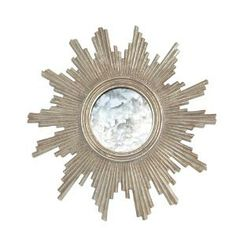 Versailles Silver Leaf Starburst Mirror. Product in photo is from www.wellappointedhouse.com