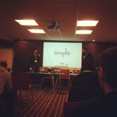 @Alex Chap @Youri Jedlinski pitchin' #simplib @OpenWorldForum