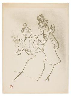 Henri De Toulouse-Lautrec (1864-1901) La Goulue 1894 (384 by 280 mm)