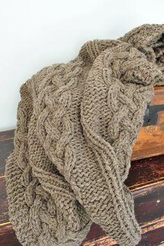 Manta de lana tiro Full/Queen o King tamaños por CampKitschyKnits